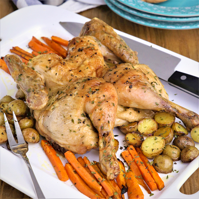 Butterflied Roast Chicken using Turbo Broiler