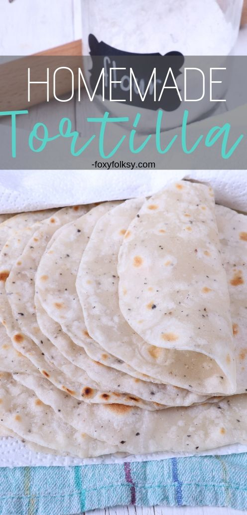 So easy and simple! Try these homemade tortillas and you will never have to buy them again. Use it for making tacos, burritos, enchiladas, quesadillas and your favorite wraps. | www.foxyfolksy.com #homemade #foxyfolksy #wraps #snacks