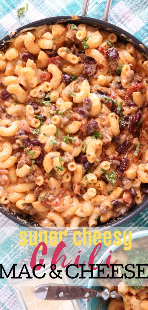 Two of the most popular comfort foods of all time, mac and cheese and chili, combined in this sumptuous all-in-one recipe, the Chili Mac and Cheese! | www.foxyfolksy.com #pasta #recipes #cheese #foxyfolksy