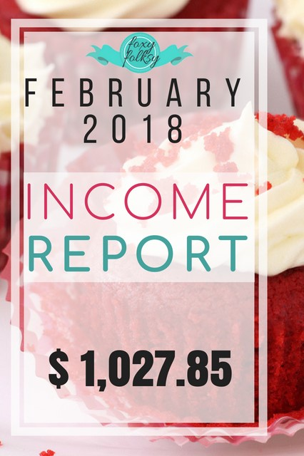 foxy folksy February 2018 traffic and income report