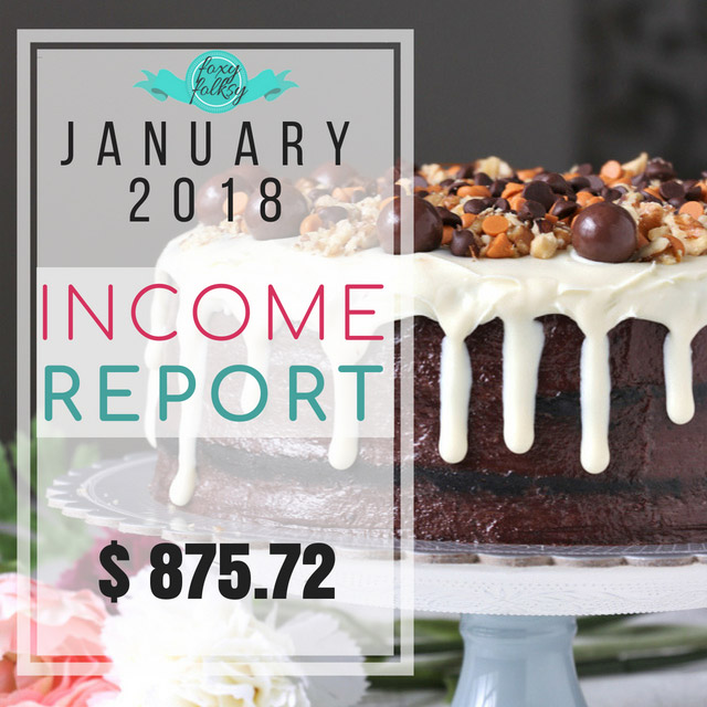 foxy folksy January 2018 traffic and income report