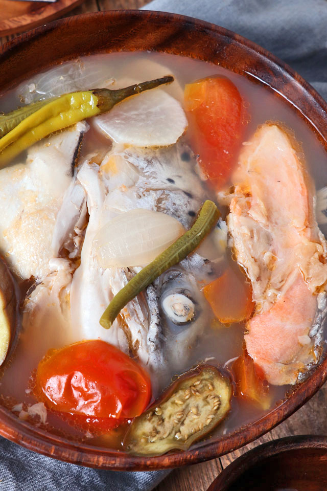 Sinigang Na Salmon Salmon Head In Sour Tamarind Soup Foxy Folksy