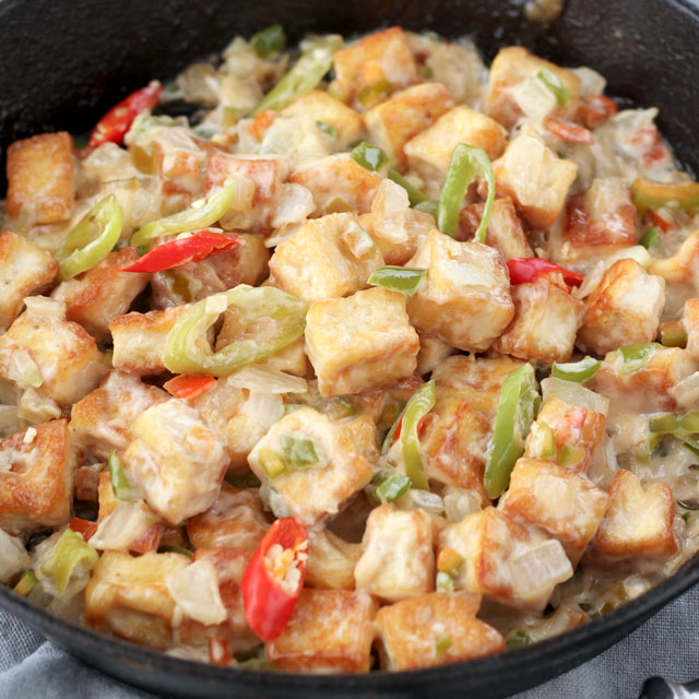 Sizzling Tofu Recipe inspired by Max's | Foxy Folksy