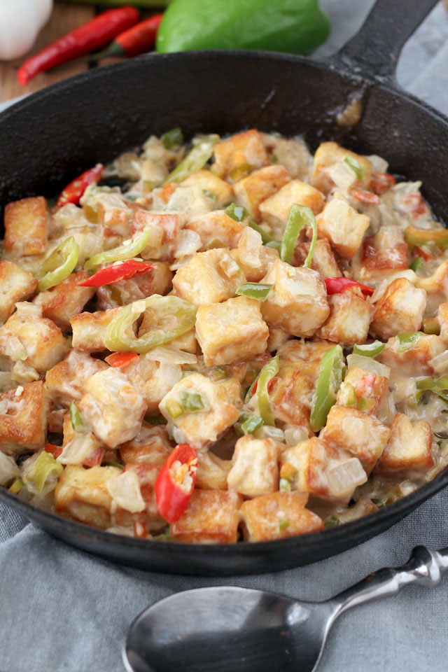 Hot and Spicy Sizzling Tofu | Foxy Folky