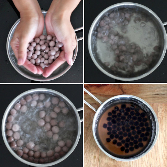 How To Make Black Tapioca Pearls For Bubble Tea Milk Tea Foxy Folksy