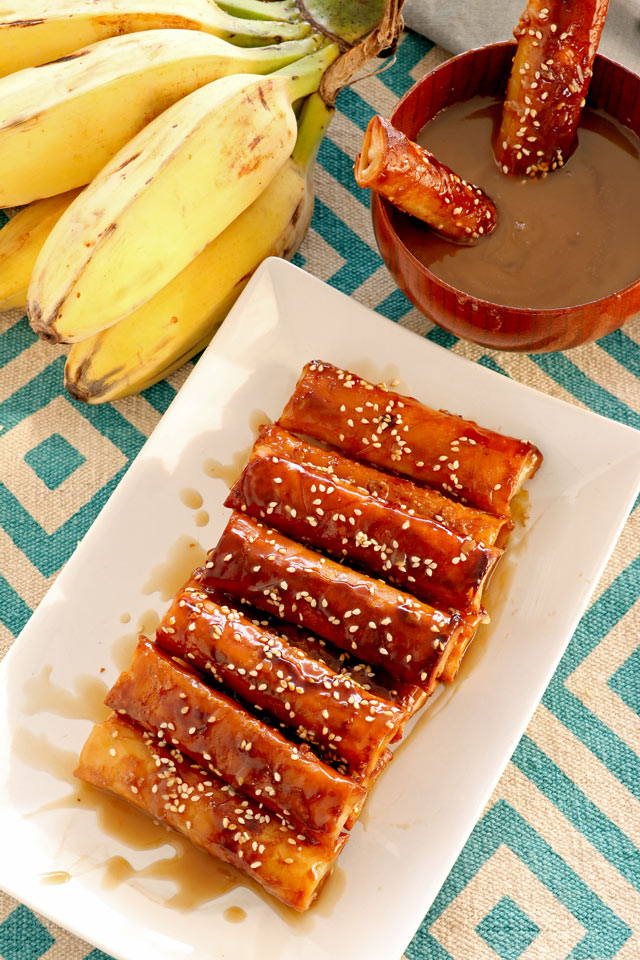 Fried Bananas with Coconut Caramel Sauce by Foxy Folky