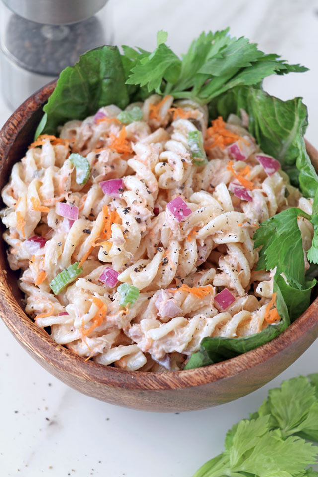 Easy Tuna Pasta Salad Recipe Foxy Folksy