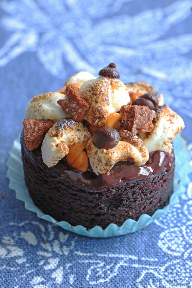 Mini S'Mores Cakes by Foxy Folksy