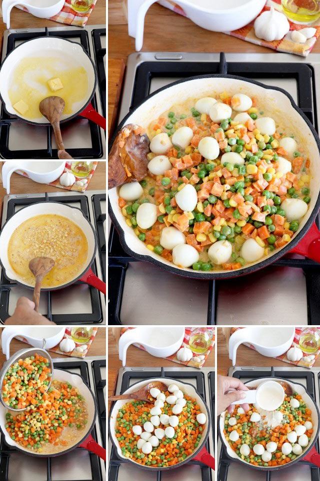 Mixed Vegetables with Quail Eggs Recipe