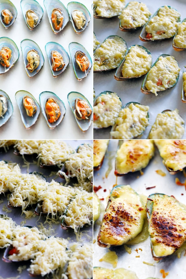 How to make Stuffed Baked Mussels