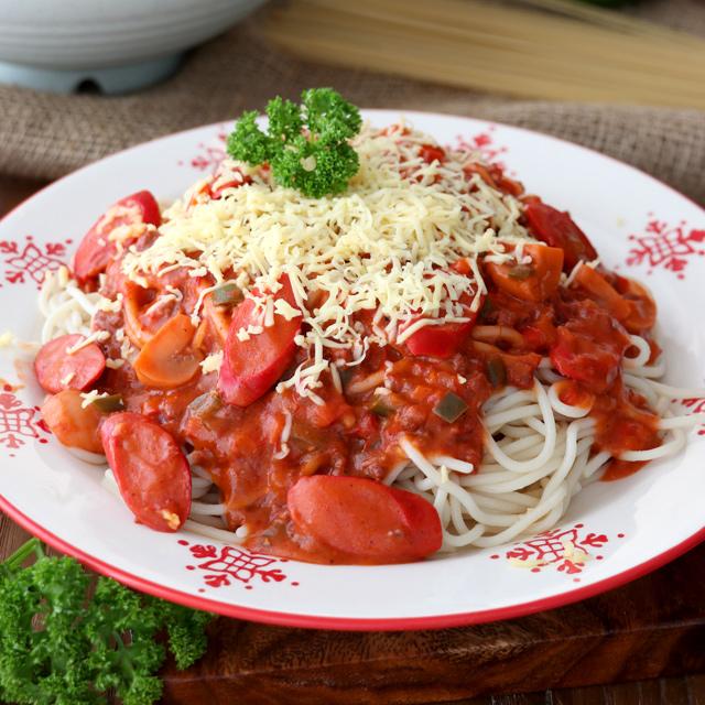Sweet Style Filipino Spaghetti With Corned Beef Foxy Folksy