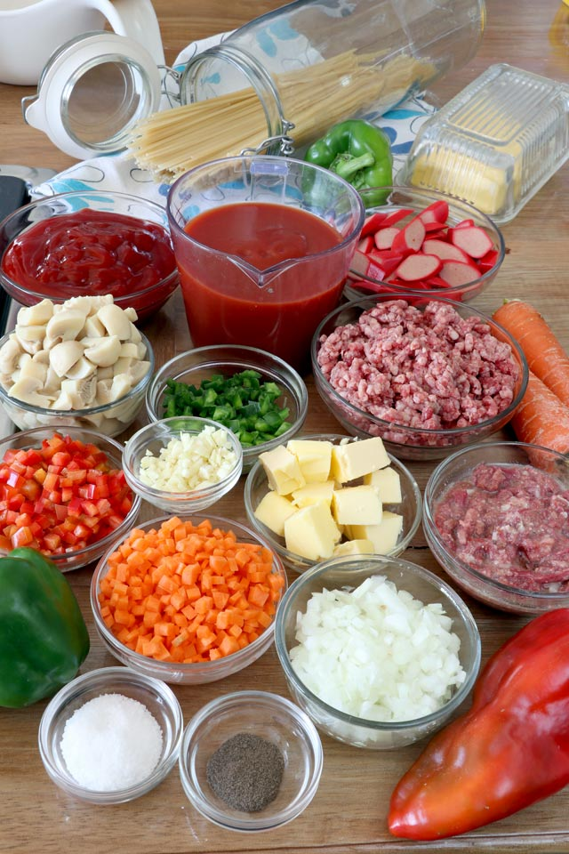 Filipino Spaghetti Ingredients
