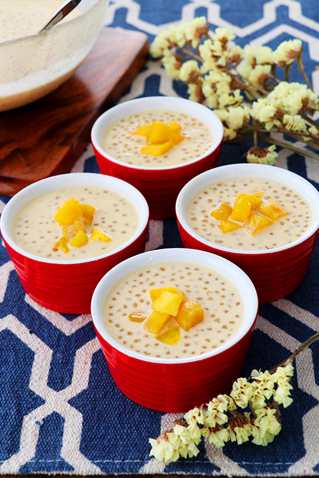 Mango Sago with Coconut Milk