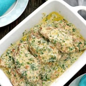 One-Pan Creamy Cilantro Chicken Recipe