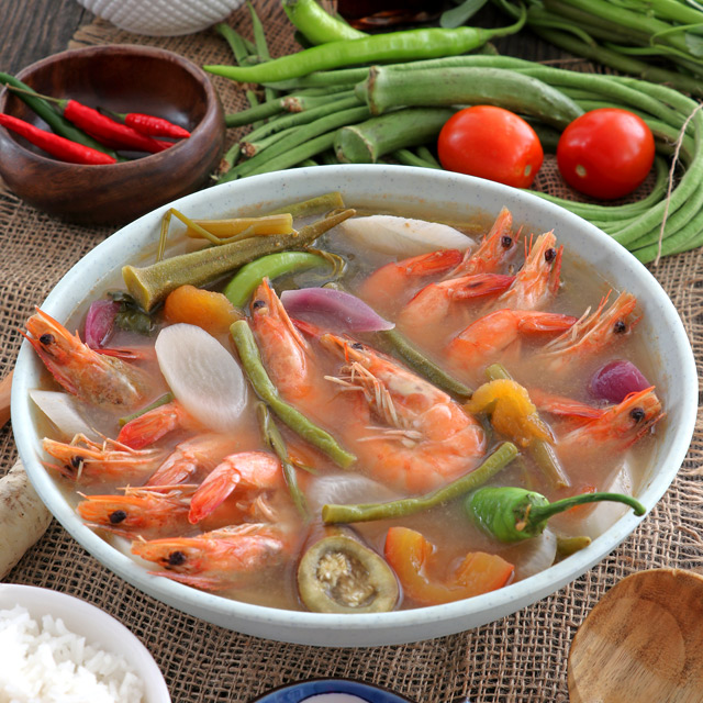 Sinigang Na Hipon Shrimp In Sour Soup Foxy Folksy