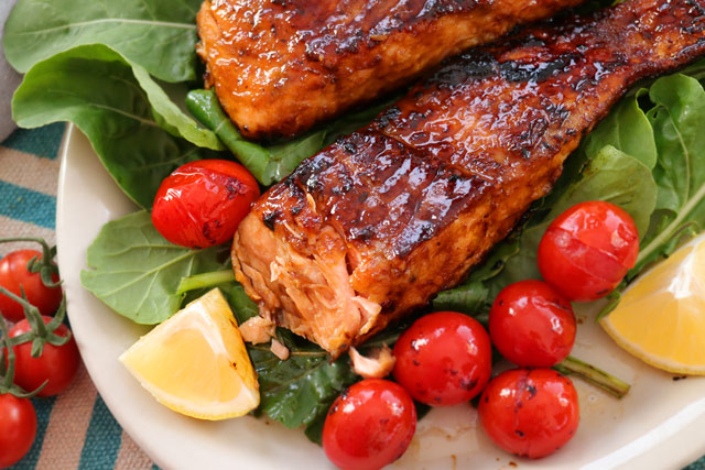 Pan-Seared Honey Glazed Salmon