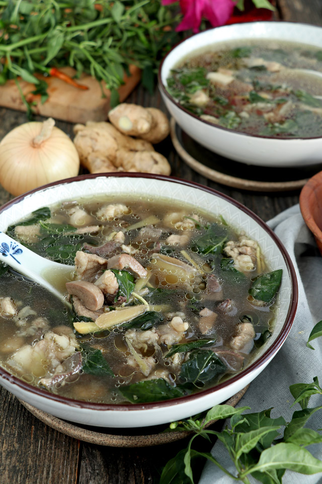Kapampangan Batchoy Soup in a bowl