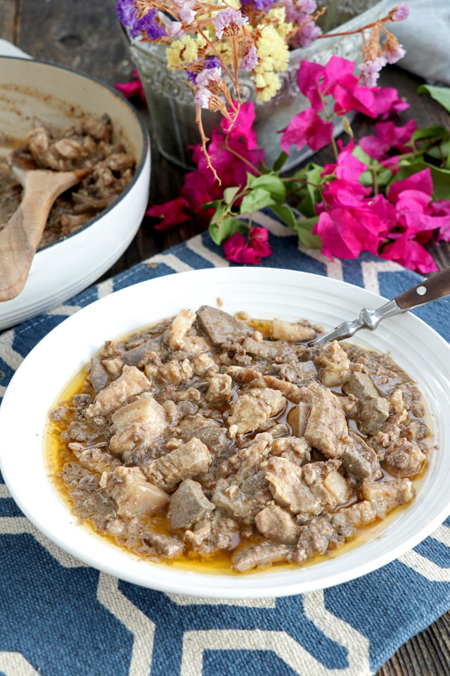 Kilayin with pork lungs, meat and liver