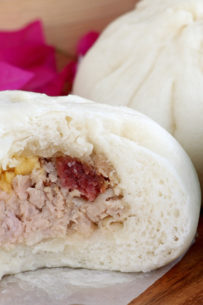 Siopao Bola-Bola With Salted Egg And Chinese Sausage