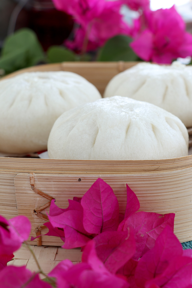 Soft, fluffy Siopao or Filipino Steamed Pork Buns