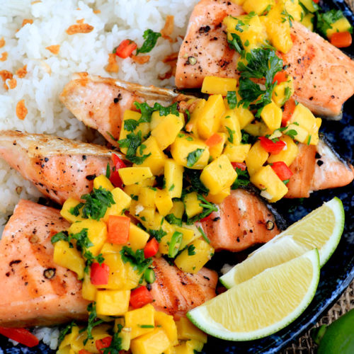 Salmon with Mango Salsa Recipe