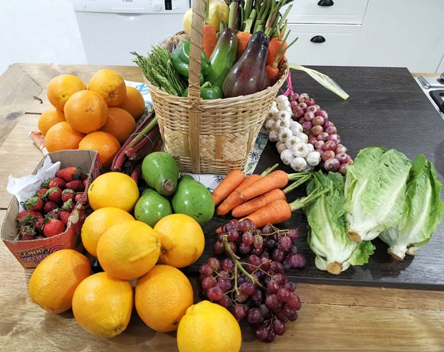 Baguio Fruits and Vegetables