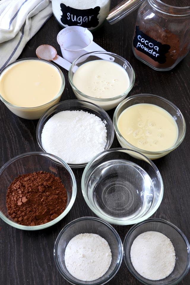 Ingredients for Black Sambo Dessert