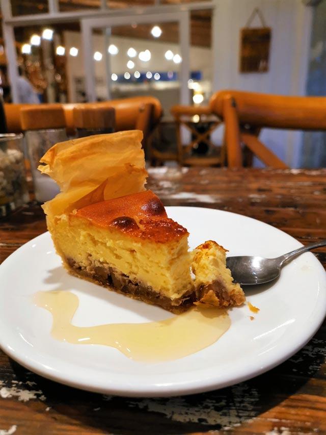 Lemon and Olives Baklava Cheese Cake