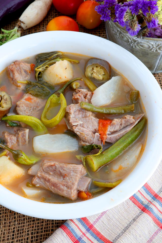 A bowl of hot Sinigang na Baboy