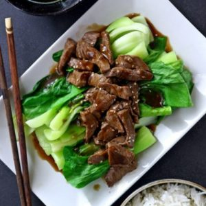 Beef Stir Fry with Oyster Sauce and Pak Choi