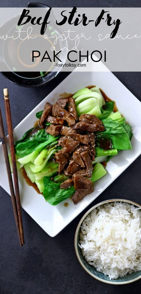 Learn the secret to fork-tender beef with this 10-minute beef stir-fry with oyster sauce and pak choi. So simple yet delicious for those always on the go! | www.foxy folksy.com #stirfry #beef #dinner #quickrecipe #easyrecipe #keto #lowcarb