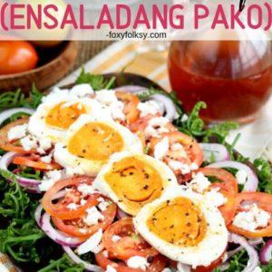 Fiddlehead Fern Salad Ensaladang Pako