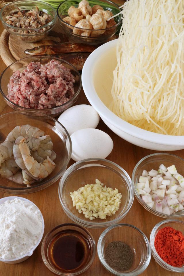 Pancit Luglug Ingredients