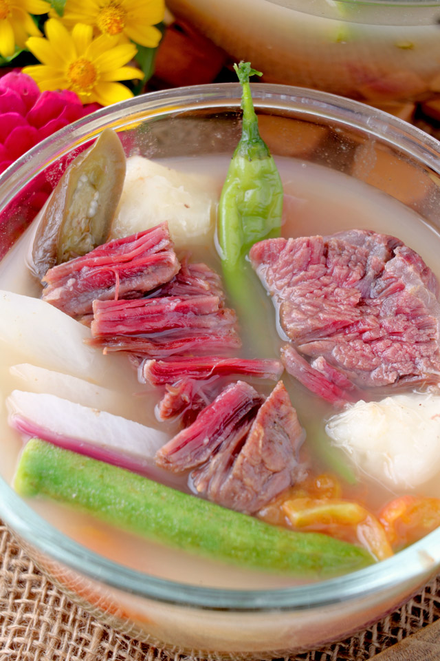 Corned beef in Sour soup