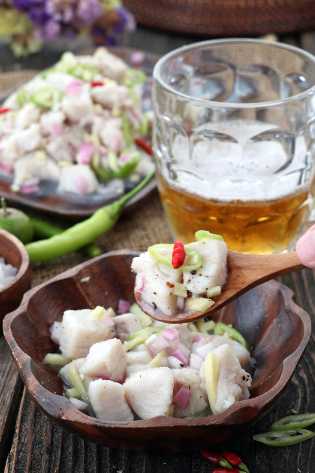 Appetizer with beer