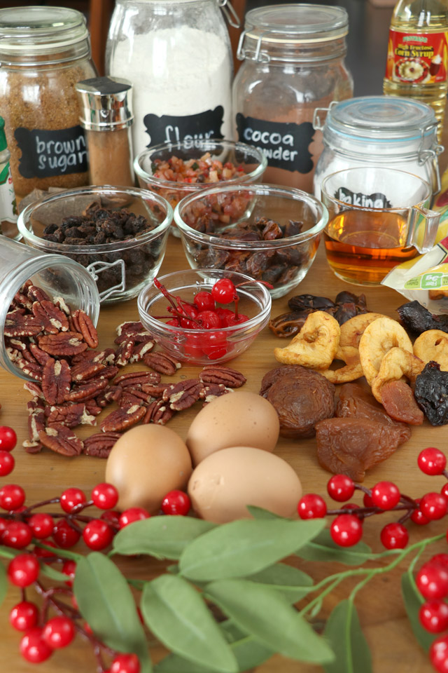 Ingredients for Fruitcake