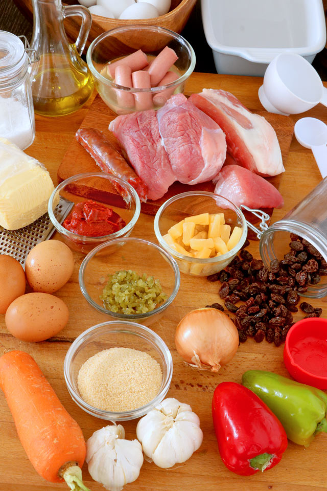 Ingredients for making Quezon's Hardinera