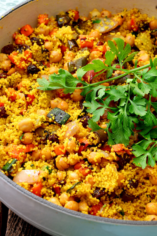 Quick And Easy Moroccan Couscous Salad Foxy Folksy
