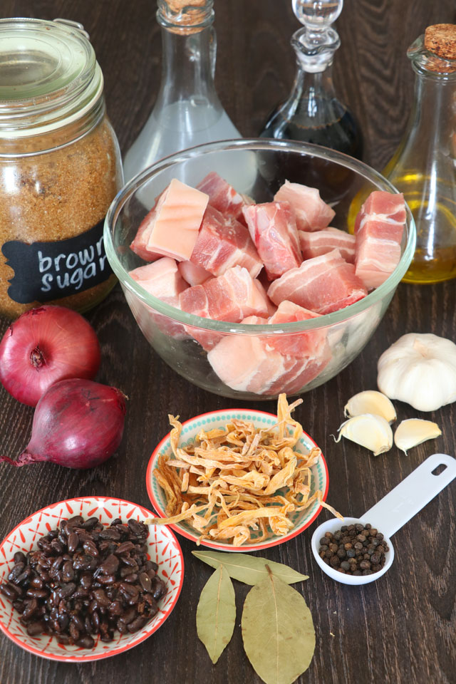 Ingredients for Humba