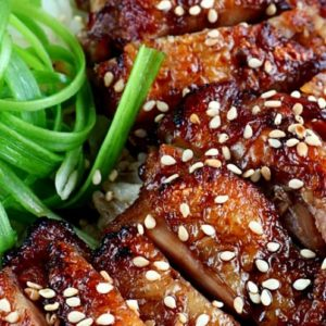 easy Chicken Teriyaki rice rowl