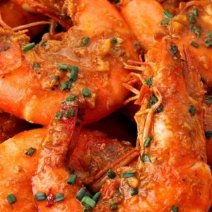 prawn in chili garlic sauce
