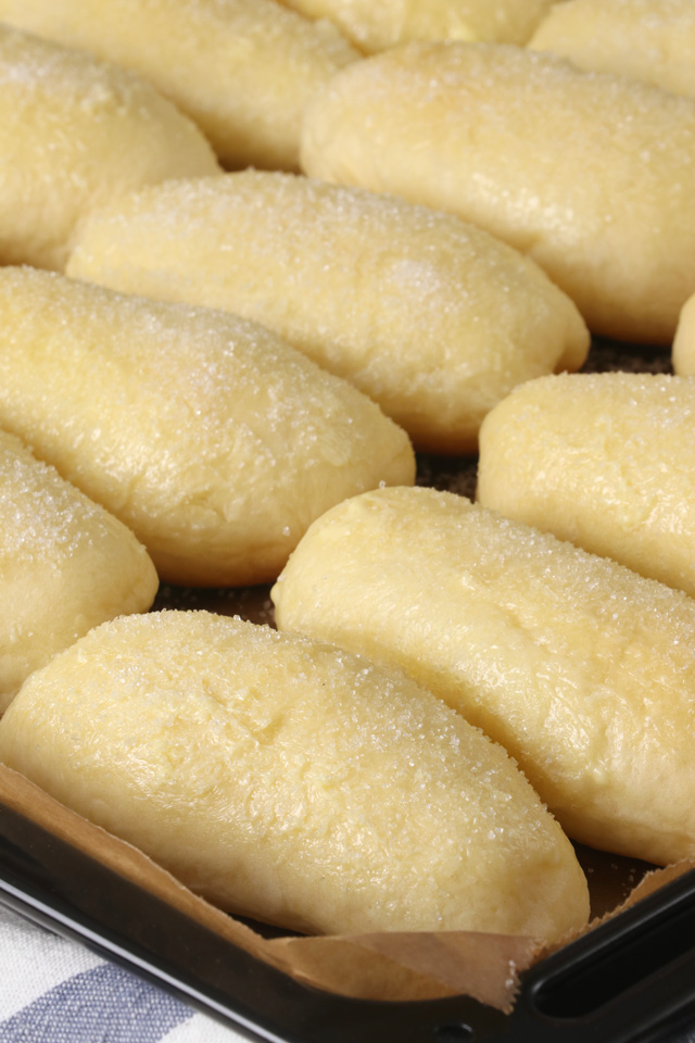 Freshly baked soft and fluffy cheese rolls.