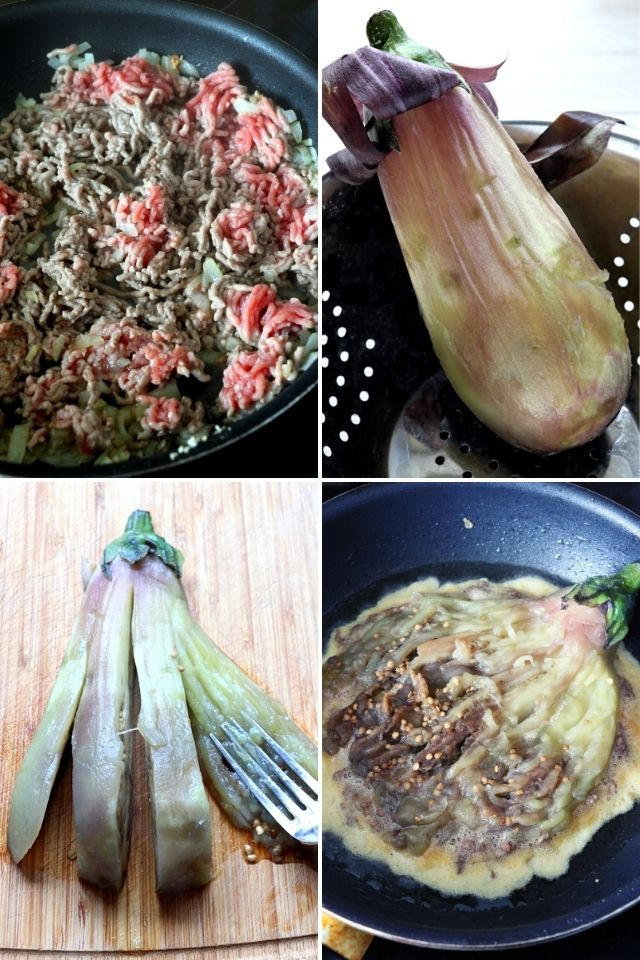 Step-by-step images on how to make Tortang Talong.