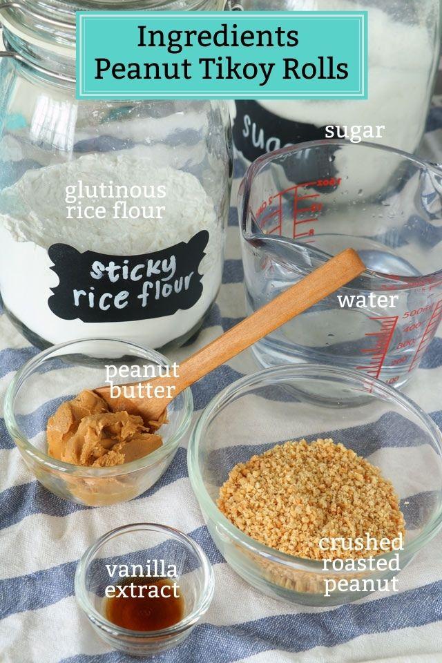 Ingredients for making Tikoy Rolls
