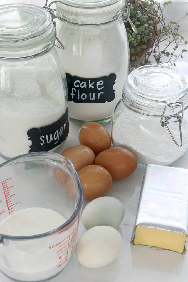 Ingredients for Puto Cake