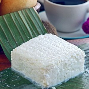 White Cheese made from fresh carabao or cow milk.