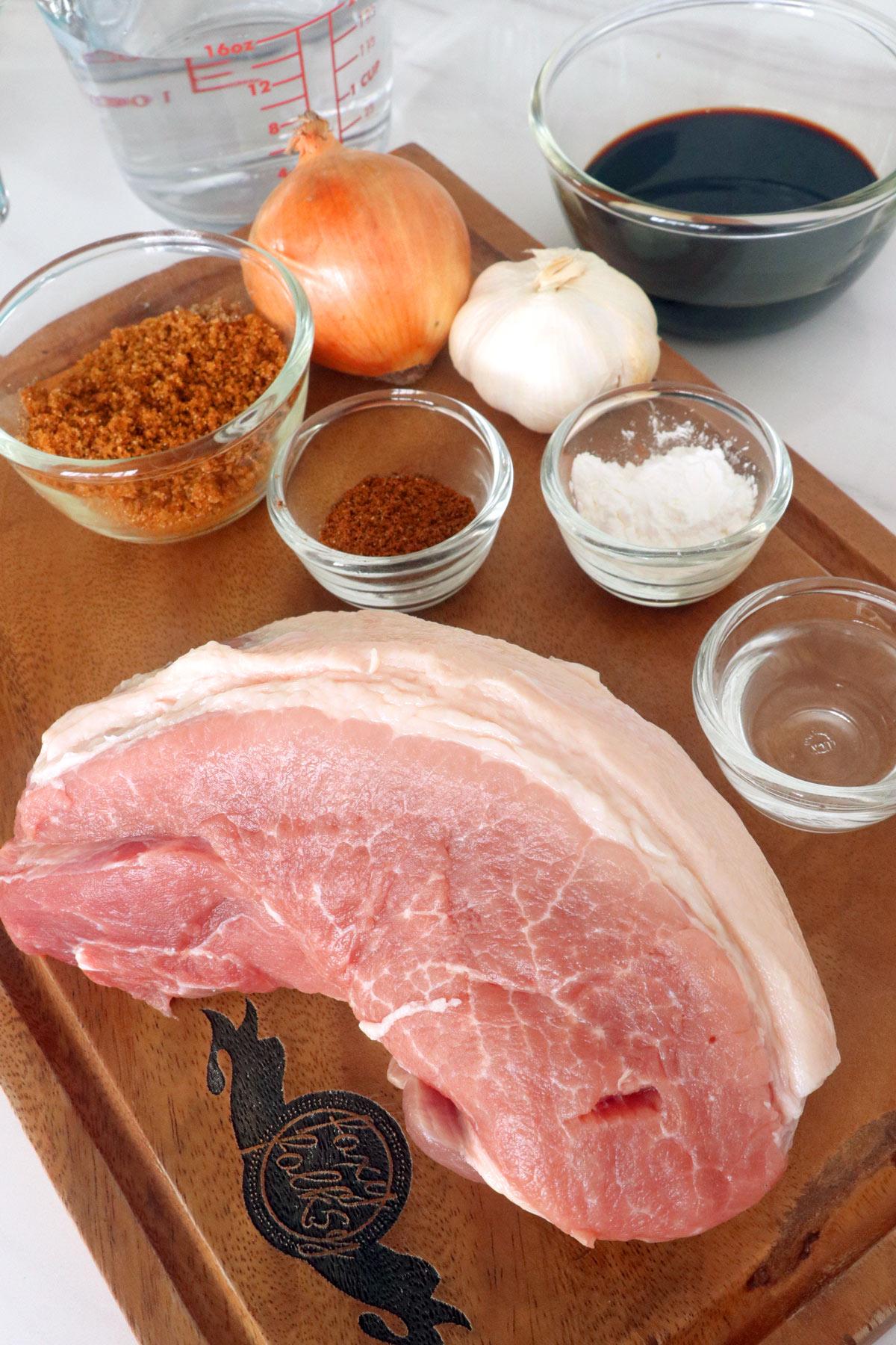 Ingredients for Pork Asado