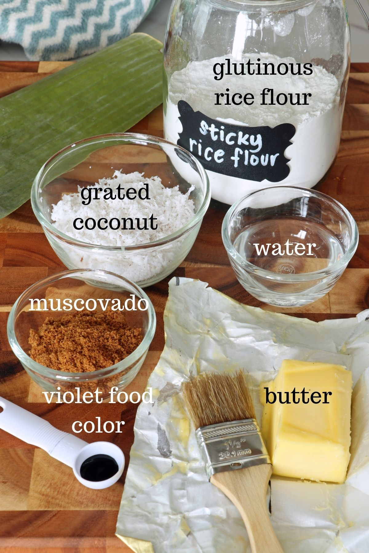 ingredients for homemade puto bumbong