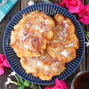 Maruya Recipe - Fried banana coated in batter then sprinkled with sugar.