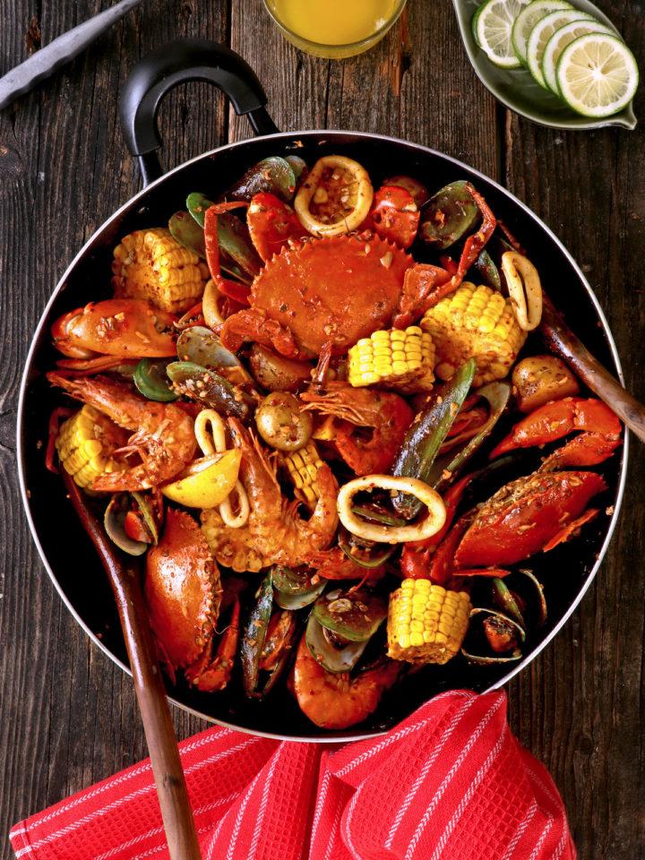 Seafood Boil in Cajun Sauce